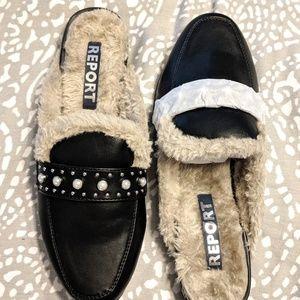 Report faux fur slides